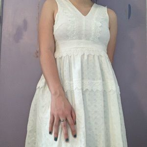 Altar'd State White Lace Dress